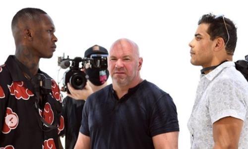 Непобежденные звезды UFC проведи дуэль взглядов перед боем за чемпионский титул. Видео