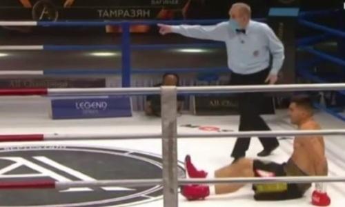 Видео нокдауна, или Как казахстанский спарринг-партнер «Канело» встал и выиграл пояс IBF