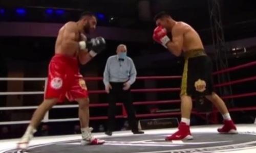 Видео полного боя казахстанца Бобиржана Моминова с его нокдауном и завоеванием титула IBF