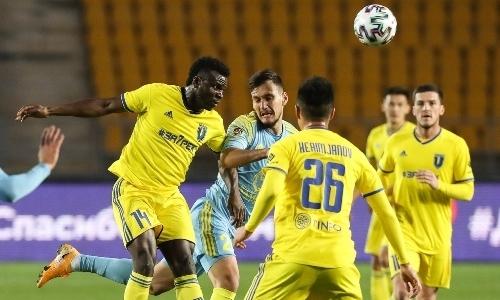 В матче КПЛ «Астана» — «Жетысу» был нарушен регламент. Присуждено техническое поражение 0:3
