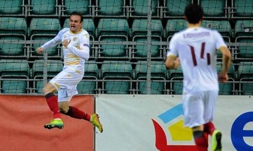 Футболист «Кайрата» забил дебютный гол за европейскую сборную с передачи игрока «Астаны»