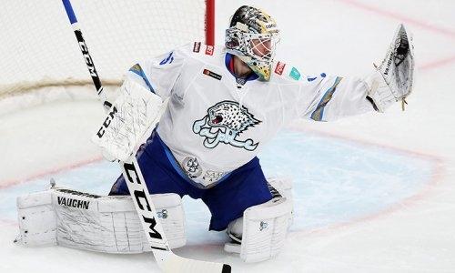 Голкипер «Барыса» был признан лучшим игроком дня в КХЛ
