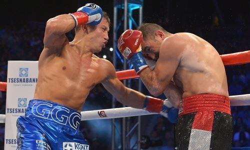 Нокаут левым боковым. Шесть лет назад Головкину впервые покорился титул WBC. Видео