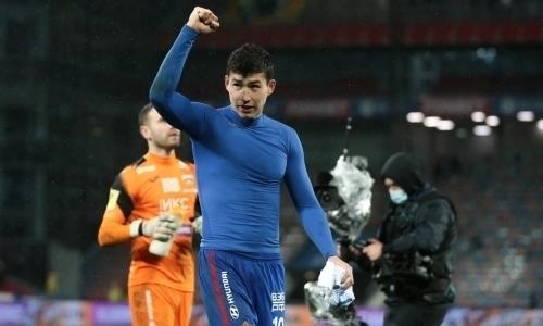 Зайнутдинов вошел в историю казахстанского футбола после матча за ЦСКА в Лиге Европы