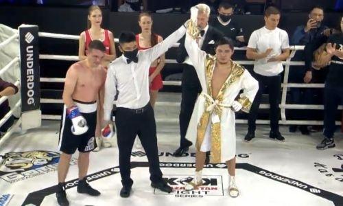 Непобежденный казахстанский боксер побил россиянина с 25 боями одержал 12 победу в профи