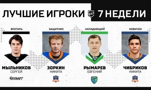 Нападающий сборной Казахстана стал лучшим форвардом недели в ВХЛ