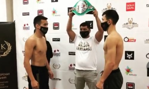 Казахстанские боксеры прошли взвешивание перед боями за титулы WBC и WBO. Видео