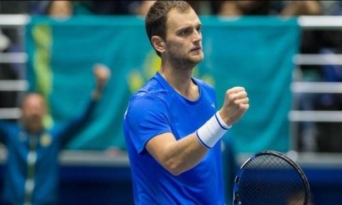 Казахстанский теннисист уверенно выиграл финал квалификации турнира в США