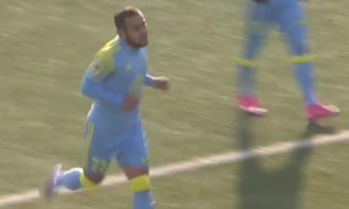 Видео гола Жалмукана матча Премьер-Лиги «Шахтер» — «Астана»