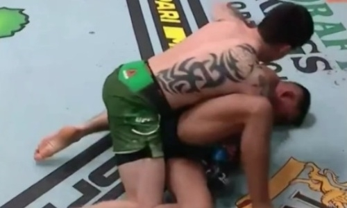 «Малыш-убийца» нокаутировал американца в UFC за секунду до конца раунда. Видео