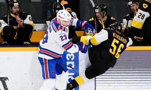 СКА совершил крутой камбэк в КХЛ после тяжелой победы над «Барысом». Видео