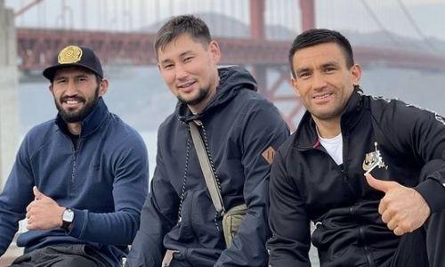 «Однажды в Сан-Франциско». Казахстанский боксер показал фото с Арманом Оспановым