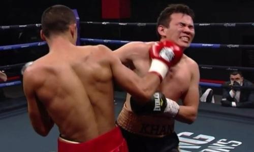 Жестким нокаутом в стиле Головкина начался вечер бокса с участием казахстанца. Видео