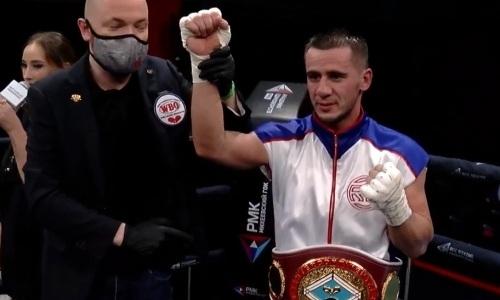 Побитый казахстанцем российский боксер стал чемпионом WBO