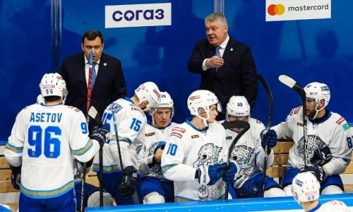 «Барыс» объявил состав на выездной матч КХЛ с «Трактором»
