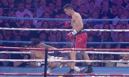 Сын Кости Цзю брутальным нокаутом в первом раунде выиграл бой за титулы IBF и WBO. Видео