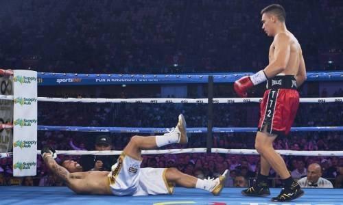Видео убойного нокаута, или Как сын Костю Цзю одним махом вырубил соперника с 21 победой