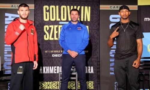 Прямая трансляция вечера бокса Головкин — Шеремета с титульным боем казахстанца Али Ахмедова