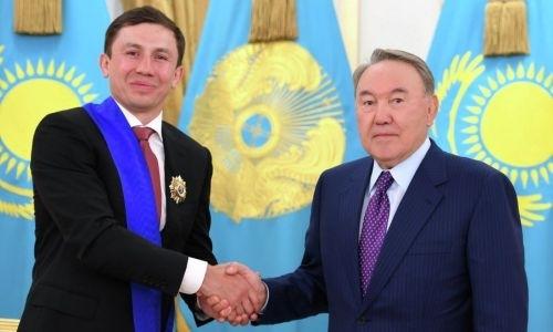 Нурсултан Назарбаев отреагировал на рекордную победу Геннадия Головкина