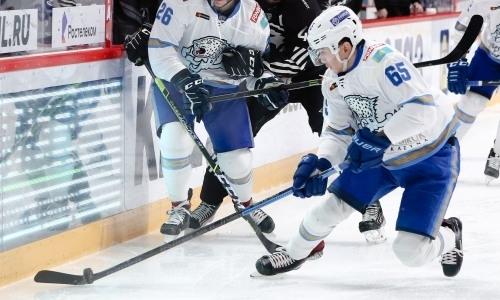 «Мы проспали начало игры». Самат Данияр высказался о тяжелой победе, первой шайбе в КХЛ и мастере в составе «Барыса»