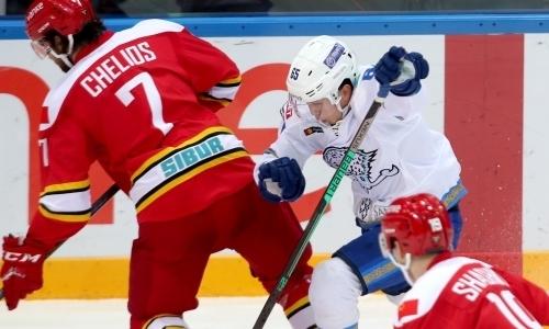 «Идеальное подключение». КХЛ восхитилась дебютной шайбой молодого казахстанца из «Барыса»