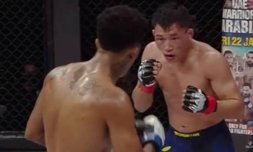 Рубка удалась. Видео боя казахстанского файтера против бразильца на турнире Хабиба Нурмагомедова