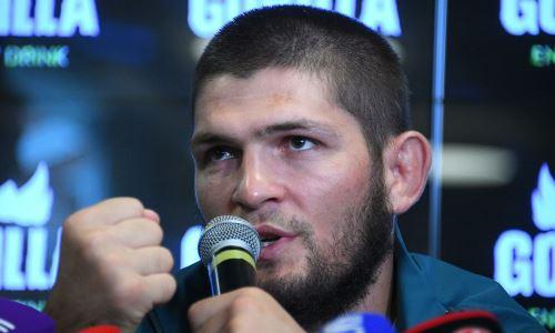 Хабиб показал, как празднует победу брата над казахстанцем Морозовым в UFC. Видео