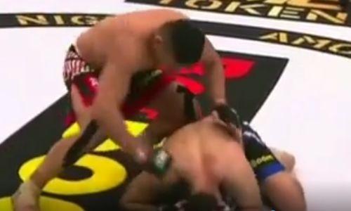 Видео зверского нокаута Куата Хамитова за 50 секунд на турнире AMC Fight Nights в Магнитогорске