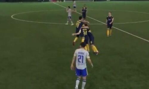Футболист молодежки «Кайрата» сотворил невероятный шедевр в матче с клубом КПЛ. Видео