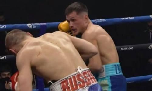 Видео «кровавой рубки» казахстанского боксера против олимпийского призера с сенсационным исходом