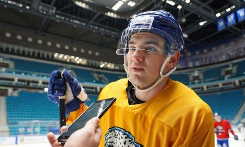 «Это лучшая лига мира». Молодой казахстанец — о своем прорыве в состав «Барыса» и цели попасть в НХЛ