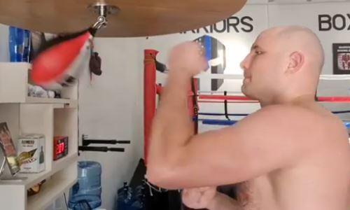 Непобежденный нокаутер-супертяж из Казахстана поделился видео с тренировки в США