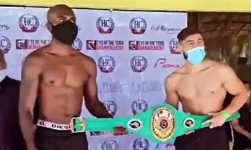 Казахстанский нокаутер прошел взвешивание перед боем за три титула. Видео