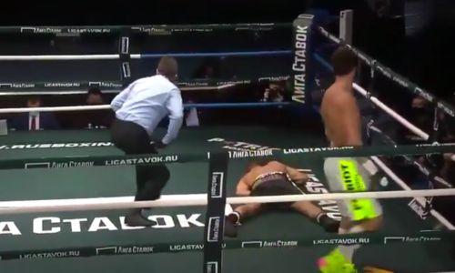 Российский боксер наповал срубил соперника в первом раунде. Видео