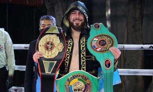 Видео полного боя казахстанца Садриддина Ахмедова за три чемпионских пояса
