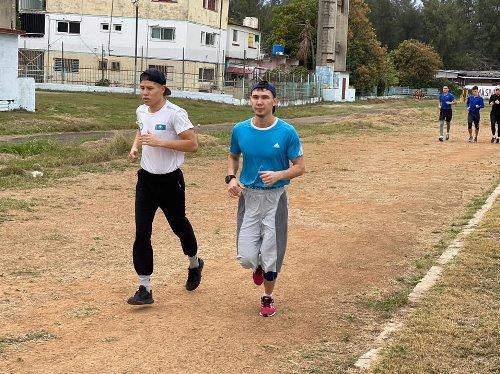 Сборная Казахстана представила фоторепортаж с УТС на Кубе