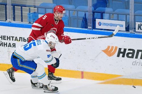 Фоторепортаж с матча КХЛ «Витязь» — «Барыс» 4:5 ОТ