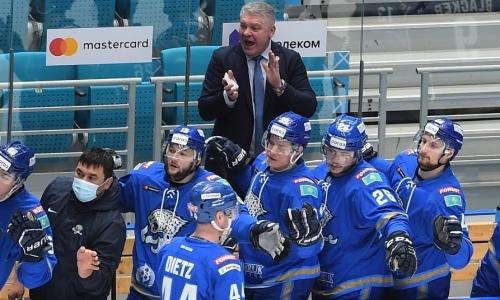 «Надо играть жестко». Юрий Михайлис прокомментировал невероятный камбэк «Барыса» в матче КХЛ с «Сибирью»