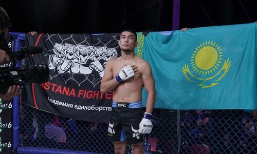 «Следующий бой за пояс». Казахстанский файтер победил россиянина и приготовился стать чемпионом в промоушне Хабиба