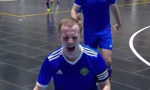 «Иди сюда, бл***!». Капитан «Байтерека» забил на последней минуте и эмоционально отпраздновал гол. Видео