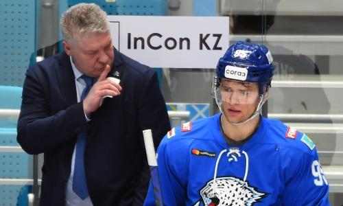 «Команда не дрогнула». Юрий Михайлис объяснил успех «Барыса» в матче с «Автомобилистом»