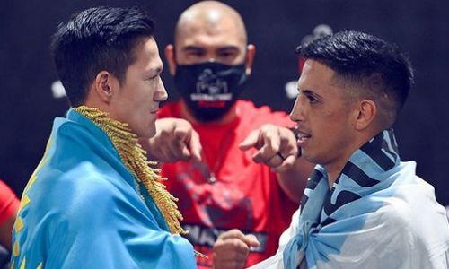 «Завтра будет легкая работа». Казахстанский боксер-полицейский из Нью-Йорка прошел взвешивание перед боем в США. Видео