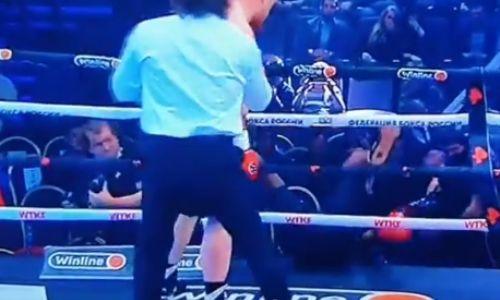 Видео зверского нокаута Вячеслава Дацика в дебютном бою в боксе. Соперник вылетел за канаты