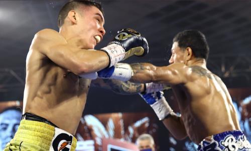 Апсет года. Главный бой вечера бокса в Лас-Вегасе закончился крутым нокаутом чемпиона мира. Видео
