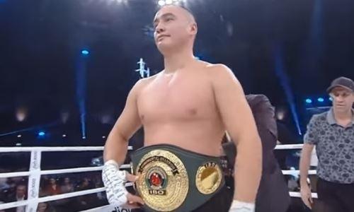 Казахстанский супертяж поднялся в мировом рейтинге после победы нокаутом в бою за титул WBA
