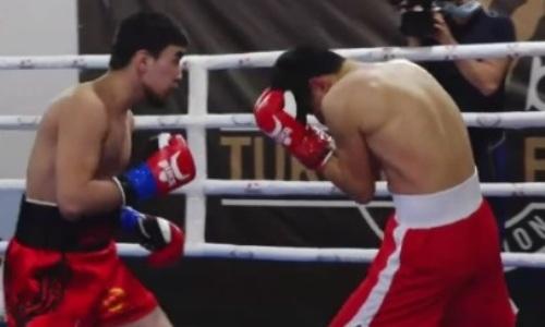 18-летний казахстанский боксер оформил нокаут за 87 секунд. Видео