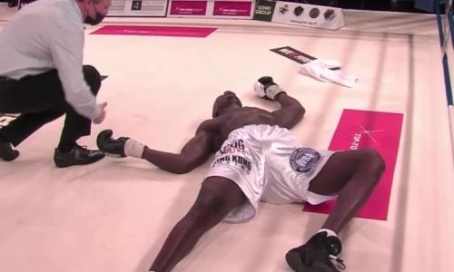 Видео полного боя с нокдауном и беспощадным нокаутом «Годзиллы» казахстанским супертяжем за титул WBA