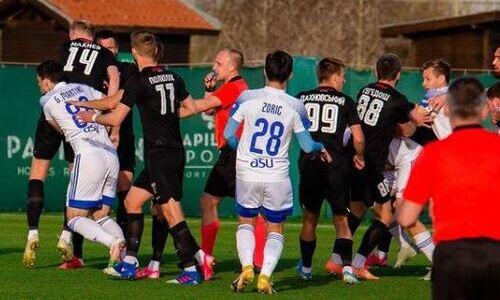 Украинский клуб показал массовую потасовку в матче с «Окжетпесом». Фото