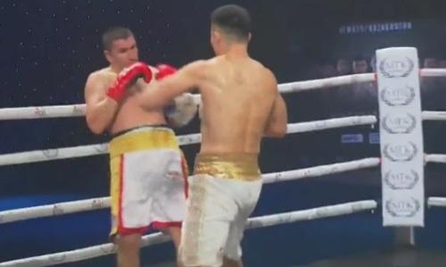 Как Камшыбек Кункабаев избивал россиянина, пока тот не сдался в бою за титул WBO. Видео