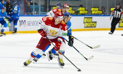 Видеообзор матча «Kazakhstan Hockey Open» Россия — Казахстан-2 3:2 ОТ